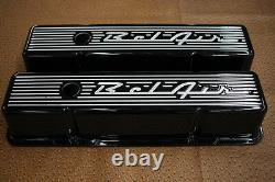 56 57 58 Bel Air Chevy SB Engine Dress Up Kit Black Powder Coat 12 Oval Air
