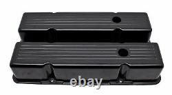 Black Ball Milled Aluminum Tall Valve Covers For Chevy SB 283 305 327 350 400