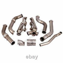 CXRacing Manifold Header Kit for Small Block SBC Engine 67-69 Chevrolet Camaro
