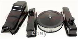 Chevy Small Block 283-305-327-350-400 Engine Combo Kit Black