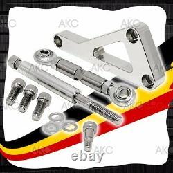 Chrome Finish Aluminum Alternator Bracket Set For Chevy Small Block 305 350