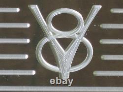 Custom Old V8 Ford Design Chevy Center Bolt LT1 Small Block Valve Covers Set