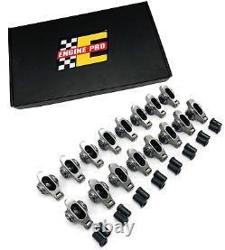 Engine Pro 1.6 7/16 Roller Rocker Arms Set w Polylocks for Chevrolet SBC 350