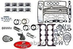 Engine Rebuild Overhaul Kit with Flat Top Pistons for 1976-1985 Chevrolet 305 5.0L