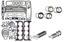 Engine Remain Rering Overhaul Kit for 1967-1985 Chevrolet SBC 350 5.7L 2 pc Seal