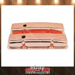 Fits 1958-86 Chevy SB Small Block Short Aluminum Valve Covers Full Finned Copper