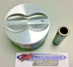 Fits Small Block Chevy 350 Engine Flat Top Coated Pistons Silvolite 3437HC+. 040