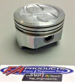 Fits Small Block Chevy 350 V8 Engines Dished Piston Set Of 8 Silvolite 1470+. 060