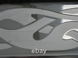 Flamming Skull Chevrolet Valve covers Tall Set Clears Roller Rockers Aluminum