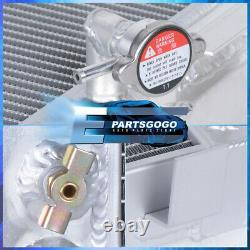 For 32 Ford Hi-Boy Street Rod Chevy SBC Engine V8 M/T Tri Core Aluminum Radiator