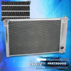 For 69-72 Chevy Corvette Small Block 350 5.7L V8 Tri-Core 3Row Aluminum Radiator