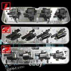 For Chevy LS Aluminum Coil Valve Covers Adapter Kit Polished 3 Configurations
