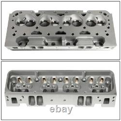 For SBC Small Block 327 350 Chevy Engine Aluminum Bare Cylinder Head 68cc Angled
