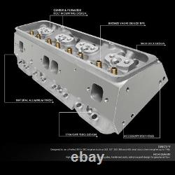 For SBC Small Block 350 Chevy Engine Aluminum Bare Cylinder Head 68cc Straight
