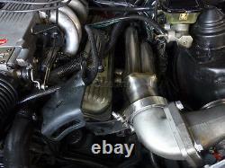Header + Turbo Elbow For 82-92 Chevrolet Camaro Small Block Motor SBC Engine