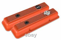 Holley 241-136 Muscle Series Valve Covers for Small Block Chevy engines Fac