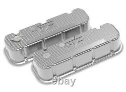Holley 241-151 Tall M/T Valve Covers for Big Block Chevy Engines Polished F