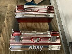 Larson Engineering Aluminum Valve Covers Chevy Sbc Small Block 327 350 Rat Rod