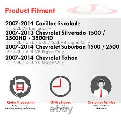 Long Tube Exhaust Manifold Header + Y-Pipe For 2007-2013 Sierra Silverado GMT V8