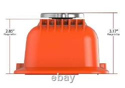 Muscle Series Valve Covers for Small Block Chevy engines Factory Orange