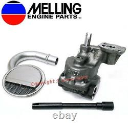 New Melling Oil Pump, Pickup & Shaft 1993-2002 Chevy sb 350 305 265 w 3/4 Inlet