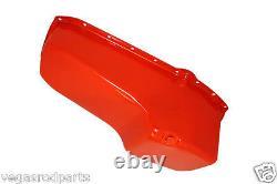 Orange Engine Oil Pan 55-79 Chevy Small Block 283 350 stock steel chevrolte dri