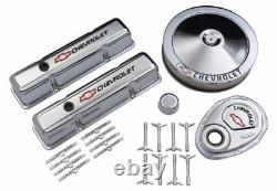Proform 141-900 Engine Dress Up Kit Chrome withLogo Fits Small Block Chevy