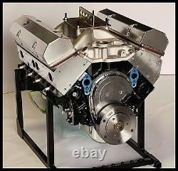 SBC CHEVY 383 SUPER STROKER STAGE 2.2 DART BLOCK, CRATE MOTOR 510 hp BASE ENGINE