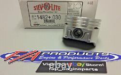 Silvolite 1482+. 030 Chevy 305 Small Block V8 Engines Cast Piston Set Of 8