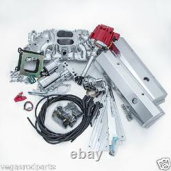 Small Block 350 Chevy SUPER DELUXE engine DRESS UP KIT intake distributor wires