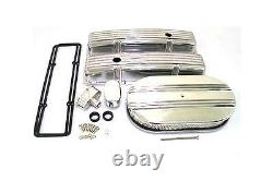 Small Block Chevy FINNED Aluminum Engine Dress up Kit Covers Air Cleaner PCV +