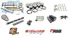 Stage 2 Master Engine Rebuild Overhaul Kit for 1957-1980 Chevrolet SBC 350 5.7L