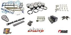 Stage 2 Master Rebuild Kit with Forged Flat Top Pistons 1962 1963 Chevrolet 327