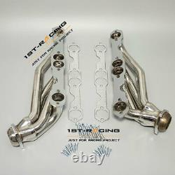 Stainless Exhaust Header For Chevy or GMC truck 307/327/305/350/400 5.0/5.4/5.7L