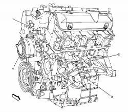 2006-2011terraza Impala Malibu Monte Carlo Long Bloc Moteur V6 3.5l