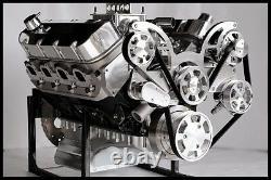 Bbc Chevy 540-555 Moteur, Bloc De Fléchettes De L'étape 7, Moteur De Caisse 724 Ch Serpentine