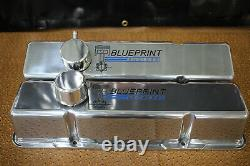 Blue Print Engine Chevy Small Block Tall Aluminum Valve Covers Breather Pcv Kit