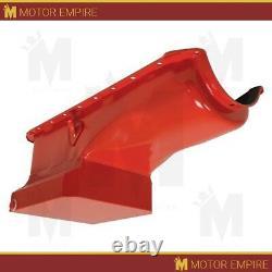 Cfr Pour 1965-90 Chevy Big Block 396-402-427-454 Drag Racing Oil Pan Orange
