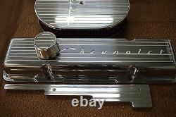 Chevrolet Chevy Ailettes Petit Bloc Haut Billettes Engine Robe Kit 12 Ovale Air 350