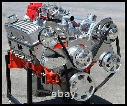 Chevy Clé En Main 383 Super Stroker Étape 2.2 Dart Bloc Crate Moteur 510-serpentine