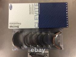 Chevy Small Block 350 383 Clevite Ms909h & 8 Cb663hn Racing Rod Main Bearing Set