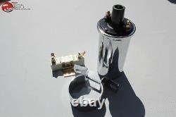 Chrome Ignition Coil Resistor Bracket Set Car Truck Hot Rat Street Rod Custom