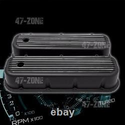 Couvercles À Grande Valve En Aluminium À Nageveuse Noire Pour 65-95 Chevy Bb 396 427 454 502
