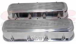 Couvercles À Grande Valve En Aluminium Sans Trou Finned Pour 65-95 Chevy Bb 396 427 454 502