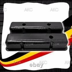 Couvre-vanne En Aluminium Noir Anodisé Pour Chevy Sb 283 305 327 350
