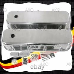 Couvre-vapeur En Aluminium Poli Lisse Pour 65-95 Chevy Bb 396 427 454 502