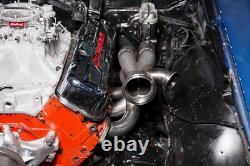Cxracing Turbo Manifold Header Kit Pour 67-69 Camaro Big Block Chevy Bbc Engine