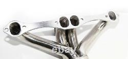 Fit 66-96 Chevy Small Block V8 Angle Plug Head Exhaust Manifold Header
