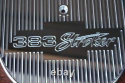 Ghostie 383 Stroker Chevy Small Block Grand Valve Cover 12 Ovale Filtre À Air