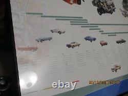 Gm Chevy Original 50 Ans. De L'art De L'affiche D'évolution Du Petit Moteur De Bloc